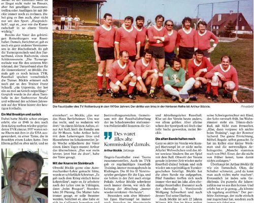Arthur Böckle - 70 Jahre Turnverein